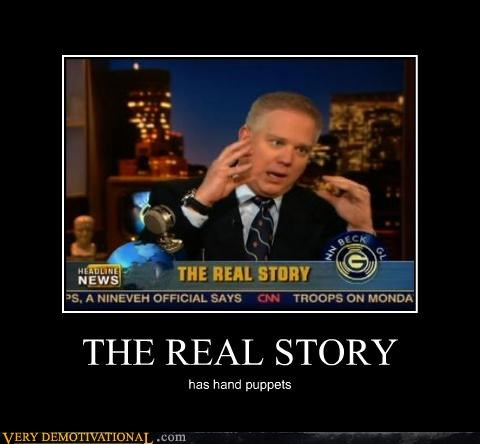 glen beck,real story,hand puppets