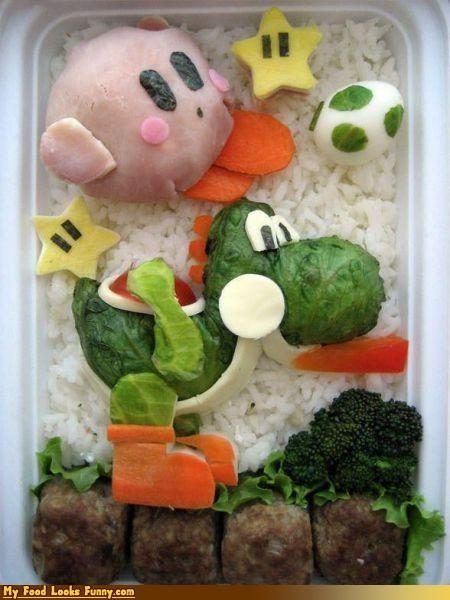 bento,bento box,box,kirby,nintendo,Super Mario bros,yoshi