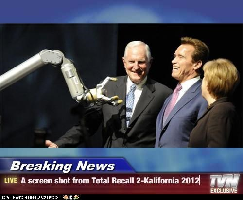 Breaking News - A screen shot from Total Recall 2-Kalifornia 2012