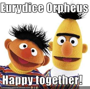 Eurydice Orpheus   Happy together!