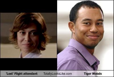 'Lost' Flight attendant Totally Looks Like Tiger Woods