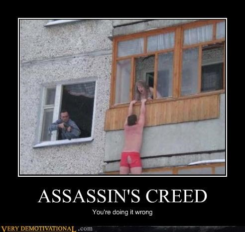 assassins creed,boxers,bad idea,IRL