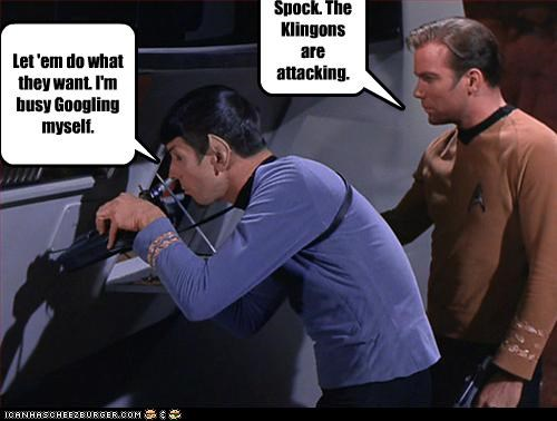 Spock. The Klingons are attacking.