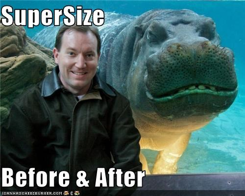 SuperSize  Before & After