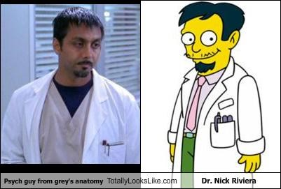 Psych guy from grey's anatomy Totally Looks Like Dr. Nick Riviera