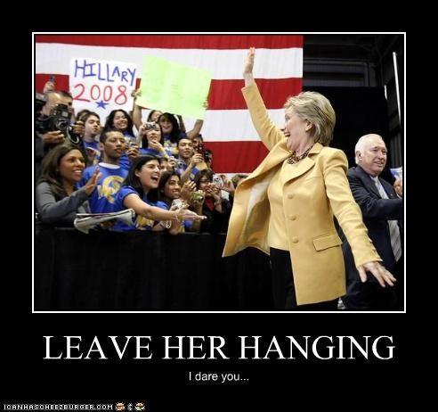 Awkward,high five,Hillary Clinton,secretary of state
