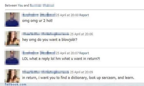 nice retort,nice try,sarcasm,spam mail