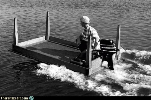 The Days When Men Were Men And Tables Were Boats?
