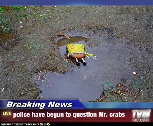cartoons,Death,mr krabs,police,SpongeBob SquarePants,toys,TV