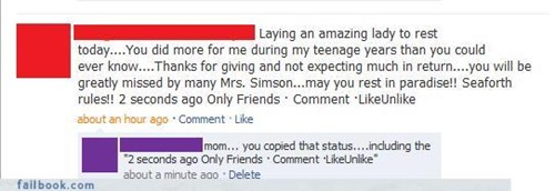 copy and paste,parents,spam mail,status updates