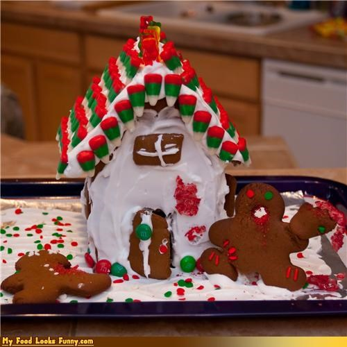 christmas,crazy,gingerbread,gingerbread house,gingerbread man,icing,Sweet Treats,zombie