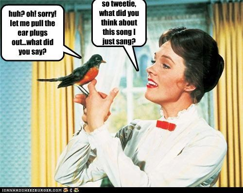 so tweetie, what did you think about this song I just sang?