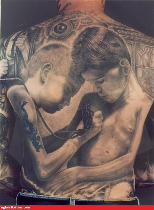 back pieces,kids,tattoos with tattoos