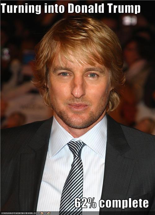 actor,donald trump,lookalike,owen wilson,transformation