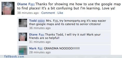 Featured Fail,grandma,poor choice of friends,potential unsee,trolling