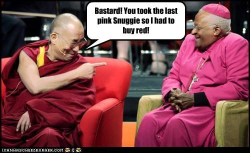 Bastard! You took the last pink Snuggie so I had to buy red!