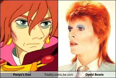 Ponyo's Dad Totally Looks Like David Bowie