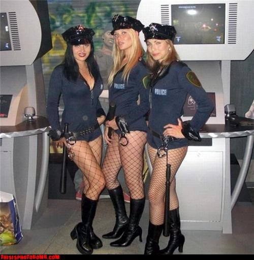 awesome,babes,booth babes,night stick,perp,police