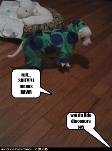 wat do litle dinosours say