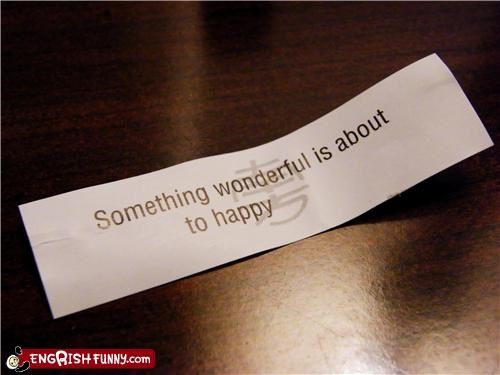 Fortune Cookie Friday - That's A Really Happy Fortune