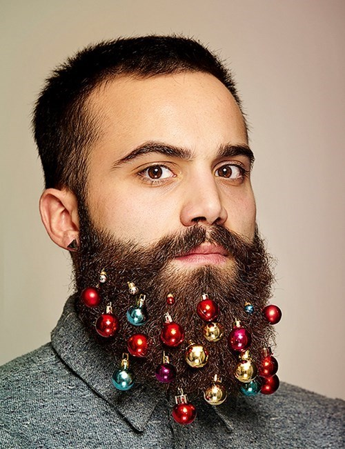 beard,christmas,ornaments,poorly dressed,g rated
