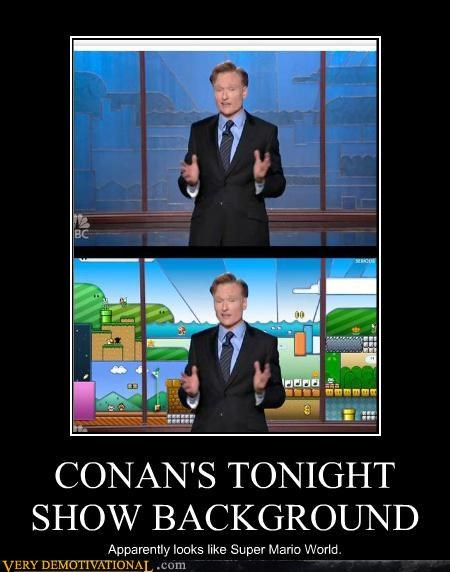CONAN'S TONIGHT SHOW BACKGROUND