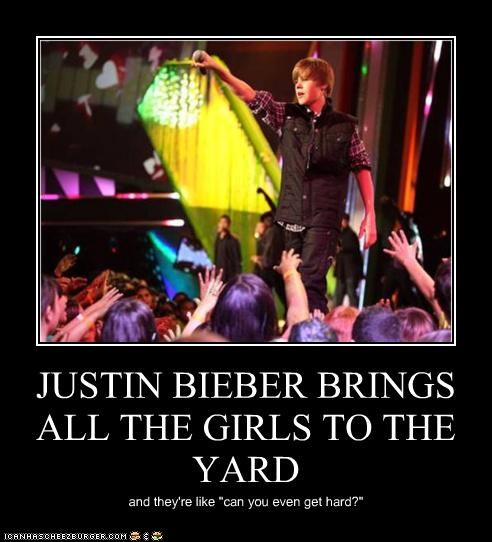 JUSTIN BIEBER BRINGS ALL THE GIRLS TO THE YARD