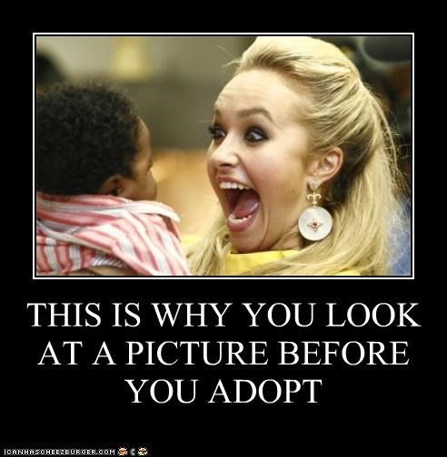 THIS IS WHY YOU LOOK AT A PICTURE BEFORE YOU ADOPT