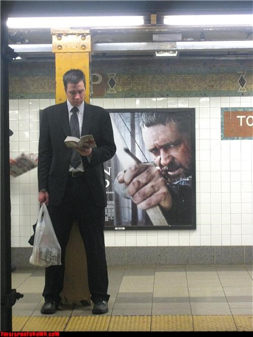 advertisements,anger management,bows,Celebrity Edition,hating,reading,robin hood,Subway