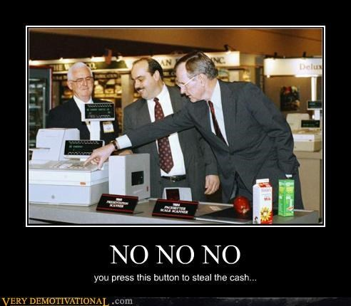 George Bush,cafeteria,cash,thief