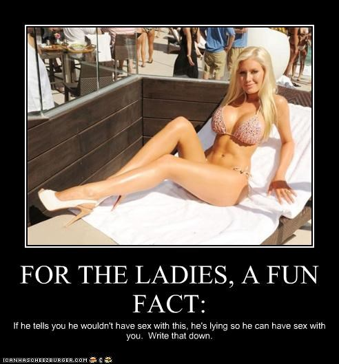 FOR THE LADIES, A FUN FACT: