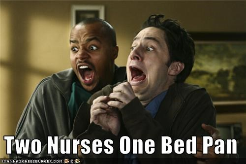 Two Nurses One Bed Pan
