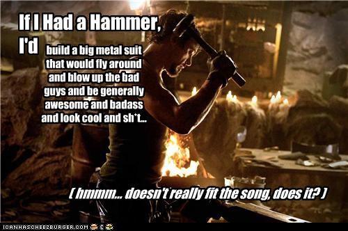 actor,hammer,iron man,movies,robert downey jr,song
