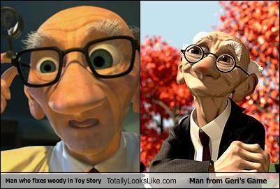 animation,Geri,geris-game,movies,nose,old man,pixar,toy story