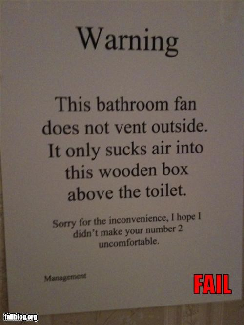 Toilet Fan Fail