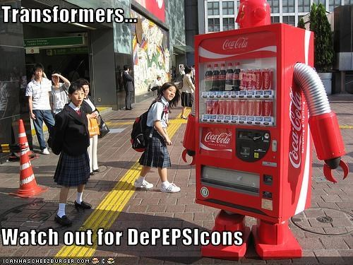 Transformers...  Watch out for DePEPSIcons