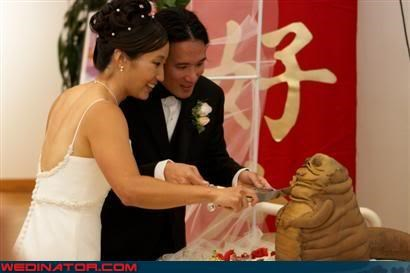bride,Dreamcake,eww,groom,star wars,Star Wars Cake,surprise,themed wedding cake,were-in-love,Wedding Themes