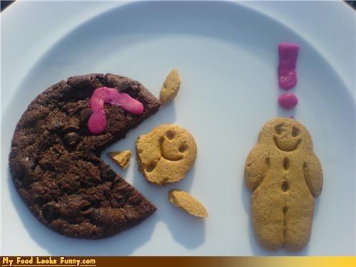 attack,cookies,eaten,eating people,pac man,Sweet Treats