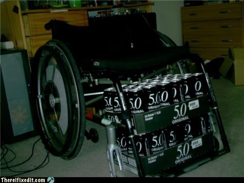 alcohol,beer,party time,wheelchair,win
