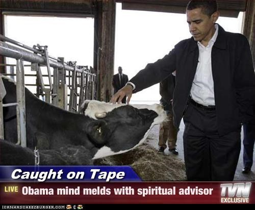 Caught on Tape - Obama mind melds with spiritual advisor