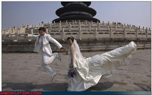 Chinese dragon,confusing,Crazy Brides,crazy groom,crazy wedding dress,fashion is my passion,forbidden city,paper-mâché,surprise,technical difficulties,upskirt,were-in-love,wedding dress train,wtf
