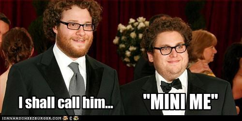 actors,austin powers,beards,jonah hill,lookalike,mini me,Seth Rogen
