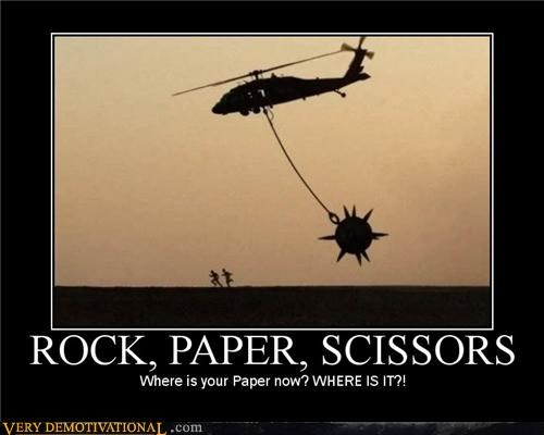 helicopter,rock paper scissors,mace