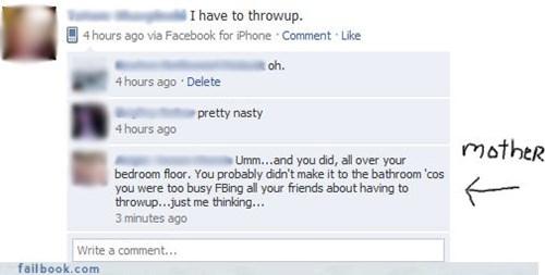 drunk girls,parenting,updating first thing,vomit