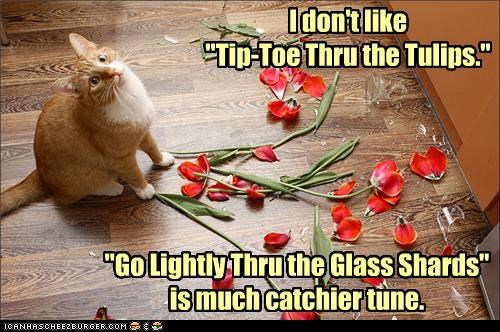 "I don't like  ""Tip-Toe Thru the Tulips."""