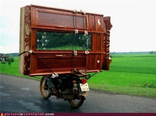 furniture,motorcycle,real life,wtf