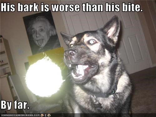 His bark is worse than his bite.  By far.
