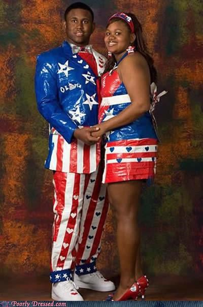 Duct Tape + Extreme Patriotism = Best Prom Ever