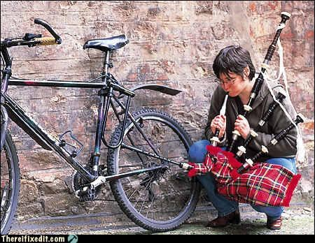 bag pipes,bicycle,bike,not intended use,pump