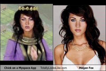 Chick on a Myspace App Totally Looks Like Megan Fox